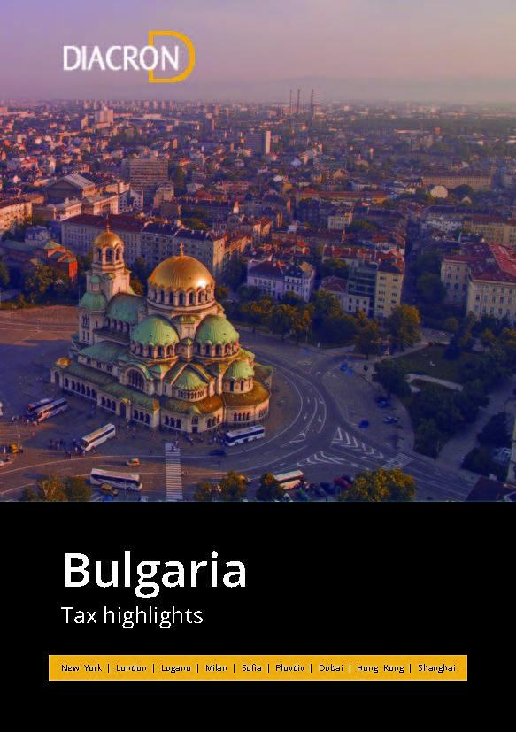 Tax highlights – Bulgaria